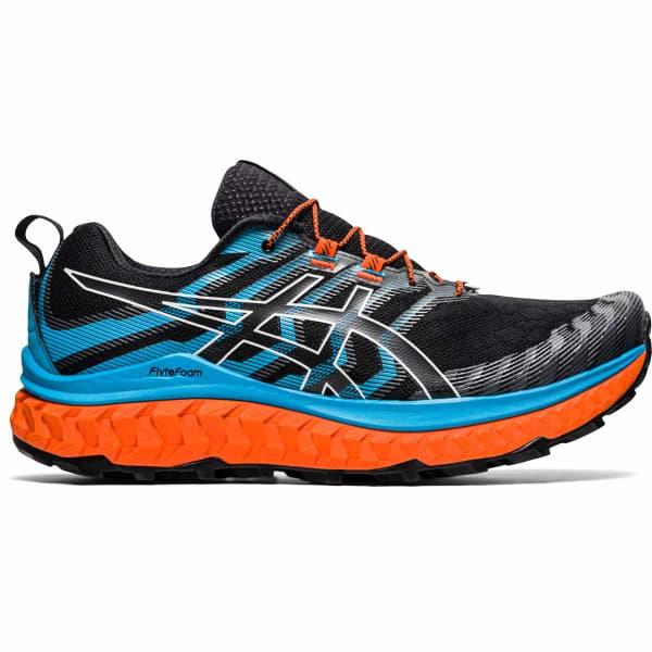 ASICS Chaussure trail Trabuco Max Black/digital Aqua Homme Bleu/Noir/Orange taille 7