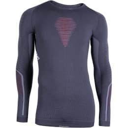 Textile FFS UYN UYN MAN VISYON UW SHIRT LG SL CHARCOAL/RED/WHITE 21 - Ekosport