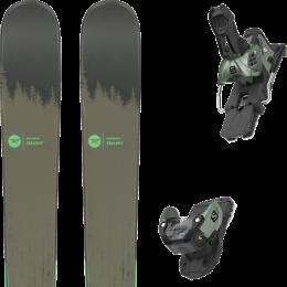 Pack ski alpin ROSSIGNOL ROSSIGNOL SMASH 7 20 + SALOMON WARDEN MNC 13 N OIL GREEN 20 - Ekosport