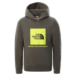 THE NORTH FACE Y BOX P/O HOODIE NEW TAUPE GRN/MULTI-COLOR 21