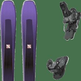 Pack ski alpin SALOMON SALOMON AIRA 84 TI PURPLE/BLACK 20 + SALOMON WARDEN MNC 13 N BLACK/GREY 20 - Ekosport