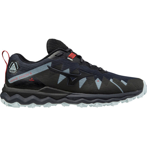 MIZUNO Chaussure trail Wave Daichi 6 India Ink/black/ignition Red Homme Bleu/Noir taille 6.5