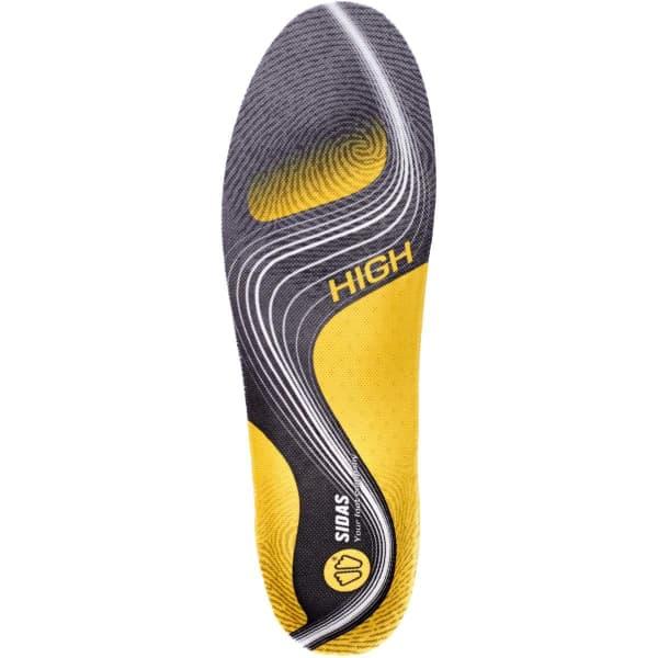 SIDAS Semelle chaussure 3feet Activ High Gris/Jaune XS