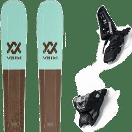 Pack ski alpin VOLKL VOLKL SECRET 102 20 + MARKER SQUIRE 11 ID BLACK 21 - Ekosport