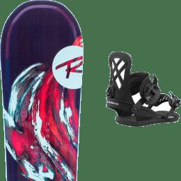 Pack snowboard ROSSIGNOL ROSSIGNOL DIVA LF (LITE FRAME) + UNION MILAN BLACK - Ekosport