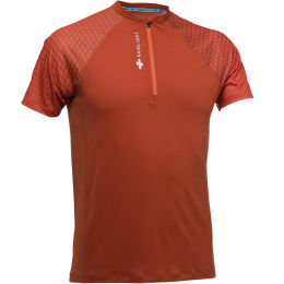 RAIDLIGHT ACTIV RUN SS SHIRT MID ZIP BURNT ORANGE 20