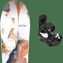Snowboard NITRO NITRO SANTOKU 21 + NITRO TEAM PRO GOLDY 21 - Ekosport