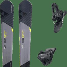Pack ski alpin FISCHER FISCHER PRO MTN 95 TI 17 + TYROLIA ATTACK² 11 GW W/O BRAKE [L] SOLID BLACK 20 - Ekosport