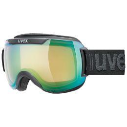 UVEX DOWNHILL 2000 V BLACK MAT/MIRROR GREEN/VARIOMATIC 21