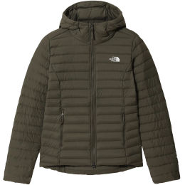 THE NORTH FACE W STRETCH DOWN HOODIE NEW TAUPE 21