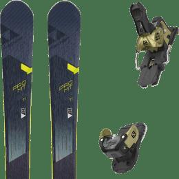Pack ski alpin FISCHER FISCHER PRO MT 95 TI 19 + SALOMON WARDEN MNC 13 N GOLD 20 - Ekosport