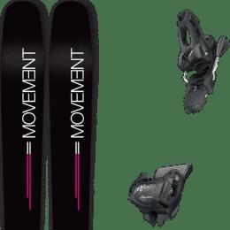 Boutique MOVEMENT MOVEMENT GO 100 WOMEN 19 + TYROLIA ATTACK² 11 GW W/O BRAKE [L] SOLID BLACK 20 - Ekosport