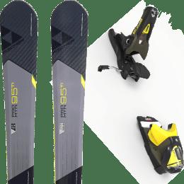 Pack ski alpin FISCHER FISCHER PRO MTN 95 TI 17 + LOOK SPX 12 GW B100 KAKI/YELLOW 20 - Ekosport