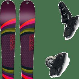 Pack ski alpin K2 K2 MISSCONDUCT + MARKER SQUIRE 11 BLACK - Ekosport