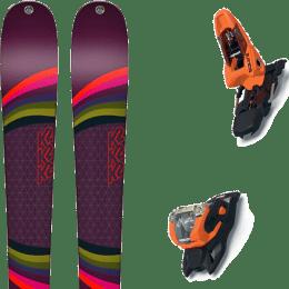 Pack ski alpin K2 K2 MISSCONDUCT + MARKER SQUIRE 11 ORANGE/BLACK - Ekosport