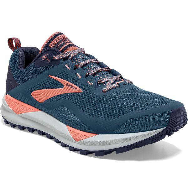 BROOKS Chaussure trail Cascadia 14 W Desert Flower/navy/grey Femme Bleu taille 5.5