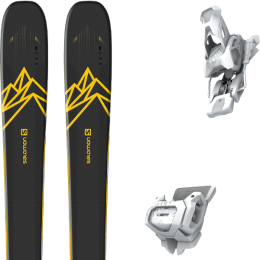 Collection SALOMON SALOMON QST 92 DARK BLUE/YELLOW 20 + TYROLIA ATTACK² 12 GW BRAKE 110 [A] MATT WHITE 20 - Ekosport