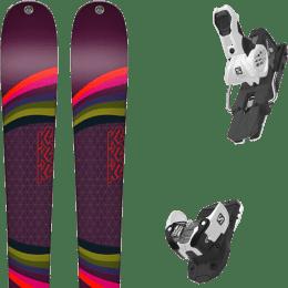 Pack ski alpin K2 K2 MISSCONDUCT + SALOMON WARDEN MNC 13 N WHITE/BLACK - Ekosport