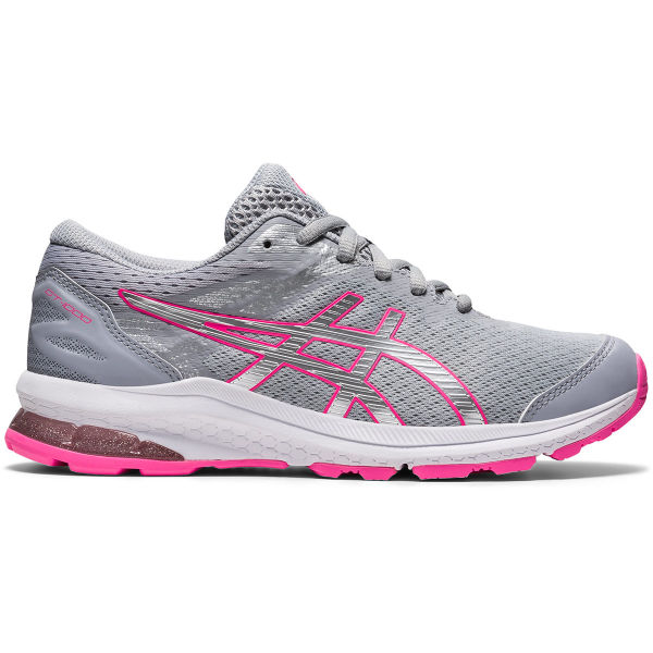 ASICS Chaussure running Gt-1000 10 Gs Jr Piedmont Grey/pure Silver Enfant Gris/Blanc/Rose taille 3.5