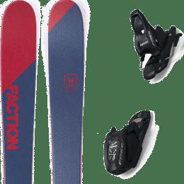 Pack ski alpin FACTION FACTION CANDIDE 0.5 19 + MARKER FREE 7 95MM BLACK 22 - Ekosport