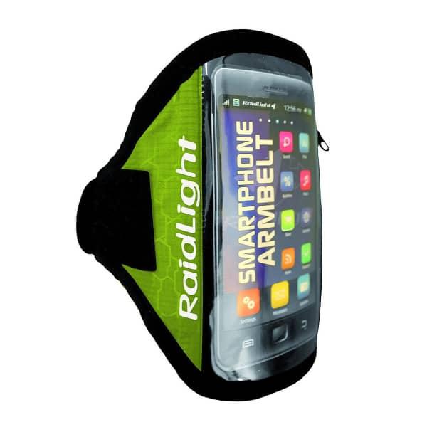 RAIDLIGHT Brassard running Smartphone Armbelt Black/green Noir/Vert Unique