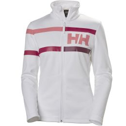 HELLY HANSEN GRAPHIC FLEECE JKT W WHITE/FROST 19