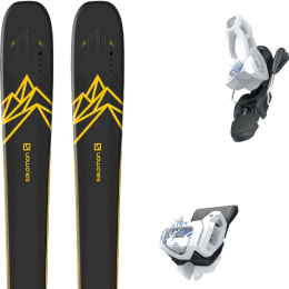 Boutique SALOMON SALOMON QST 92 DARK BLUE/YELLOW 20 + TYROLIA ATTACK² 11 GW BRAKE 100 [L] SOLID WHITE NAVY 20 - Ekosport