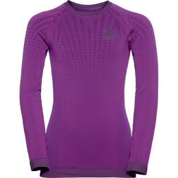 ODLO PERFORMANCE WARM KIDS BL TOP CREW NECK L/S PURPLE CACTUS FLOWER - CHARIS 21