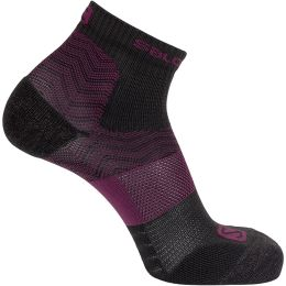 SALOMON OUTPATH LOW BLACK/MAUVE WINE 20