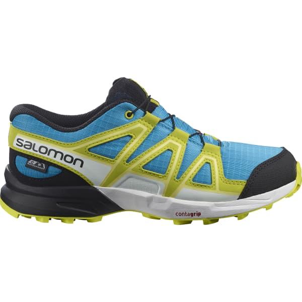 SALOMON Chaussure trail Speedcross Cswp Jr Hawaiian Ocean/evening Primrose/charlock Enfant Bleu/Vert/Blanc taille 33