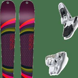 Pack ski alpin K2 K2 MISSCONDUCT + MARKER SQUIRE 11 WHITE - Ekosport