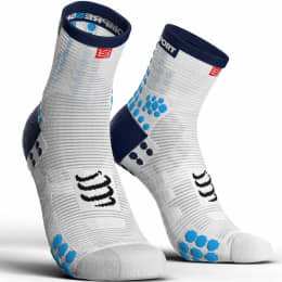 Boutique COMPRESSPORT COMPRESSPORT PRO RACING SOCKS V3.0 RUN HIGH WHITE/BLUE 21 - Ekosport
