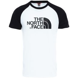THE NORTH FACE SS RAGLAN EASY TEE WHITE BLACK 21