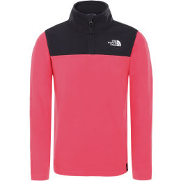 THE NORTH FACE YOUTH GLACIER BLOCKED 1/4 ZIP PARADISE PINK 21