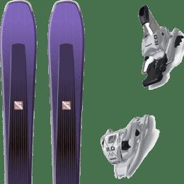 Pack ski alpin SALOMON SALOMON AIRA 84 TI PURPLE/BLACK 20 + MARKER 11.0 TCX WHITE 20 - Ekosport