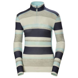 HELLY HANSEN W HH MERINO MID GRAPHIC 1/2 ZIP BLUE TINT STRIPE 20