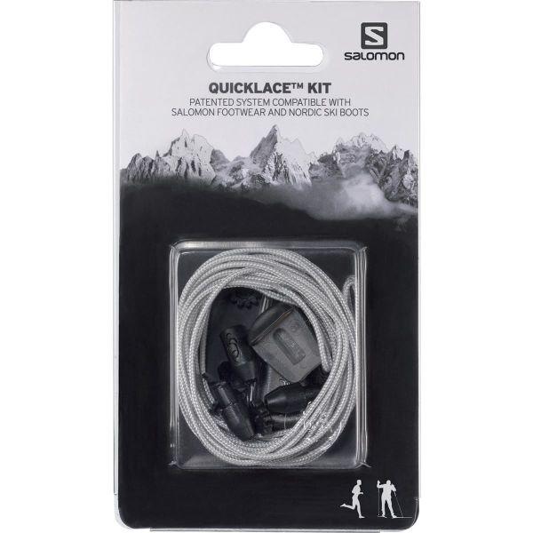 SALOMON Lacet chaussure Quicklace Kit Grey Gris Unique