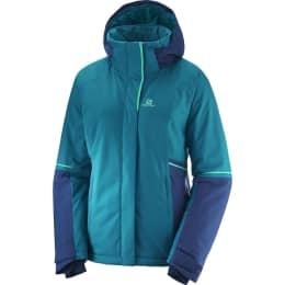 Vêtement de ski SALOMON SALOMON STORMSEASON JKT W DEEP LAGOON/MEDIEVAL BLUE 19 - Ekosport