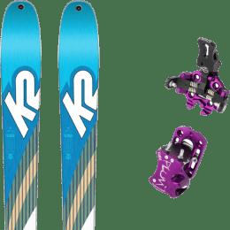 Pack ski+fix K2 K2 TALKBACK 88 SMU 22 + PLUM GUIDE 7 VIOLET 22 - Ekosport