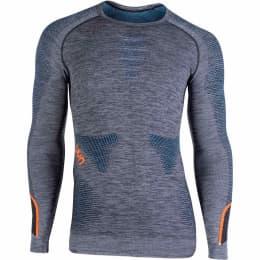 Textile FFS UYN UYN AMBITYON UW SHIRT LG SL BLK/ATLANTIC/ORANGE SHINY 21 - Ekosport