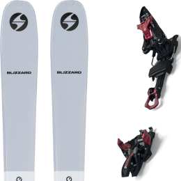 BLIZZARD ZERO G 085 GREY 22 + MARKER KINGPIN 13 75-100MM BLACK/RED 21