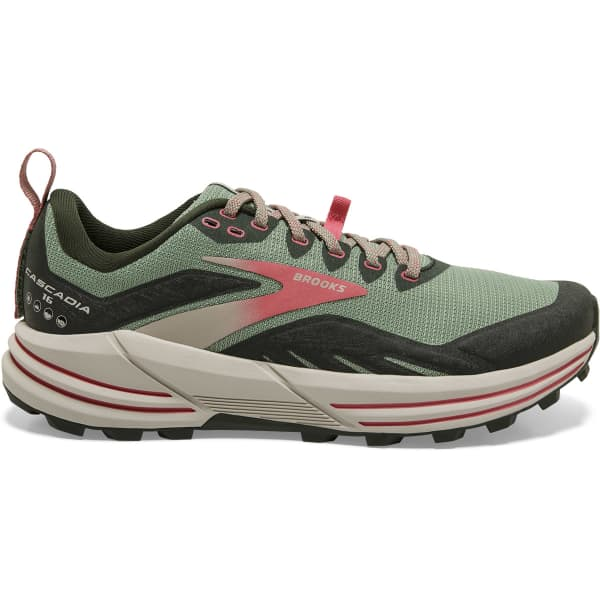 BROOKS Chaussure trail Cascadia 16 W Basil/duffel Bag/coral Femme Vert taille 5.5