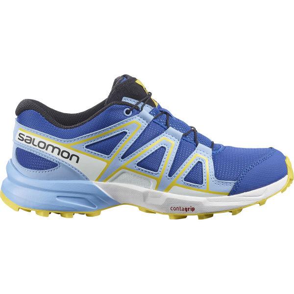 SALOMON Chaussure trail Speedcross J Turkish Sea/little Boy Blue/lemon Z Enfant Bleu/Blanc taille 33