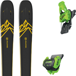Pack ski alpin SALOMON SALOMON QST 92 DARK BLUE/YELLOW 20 + TYROLIA ATTACK² 13 GW BRAKE 110 [A] GREEN 20 - Ekosport