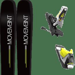 Pack ski+fix MOVEMENT MOVEMENT GO 109 19 + LOOK SPX 12 DUAL B120 CONCRETE YELLOW 19 - Ekosport