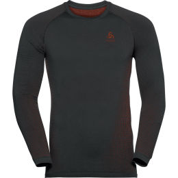 ODLO PERFORMANCE WARM ECO BL TOP CREW NECK L/S BLACK - ORANGE.COM 21