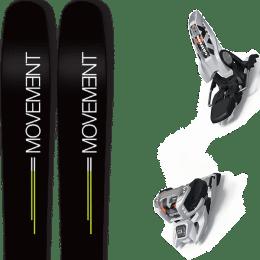 Landing housse ski offerte 2018 MOVEMENT MOVEMENT GO 109 19 + MARKER GRIFFON 13 ID WHITE 20 - Ekosport