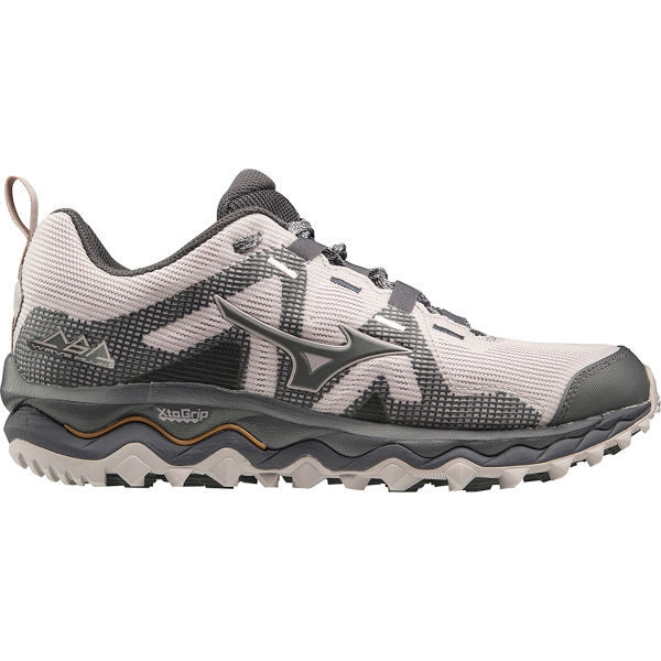 MIZUNO Chaussure trail Wave Mujin 6 W Cloudgray/pscope/10135 C Femme Gris/Rose taille 4