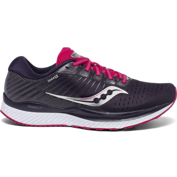 SAUCONY Chaussure running Guide 13 W Dusk/berry Femme Violet/Rose/Blanc taille \