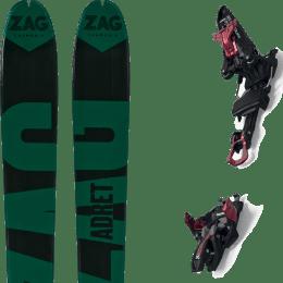 Ski randonnée ZAG ZAG ADRET 81 20 + MARKER KINGPIN 10 75-100MM BLACK/RED 21 - Ekosport